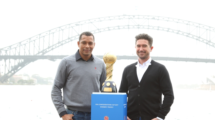 Confederations Cup promotion with Gilberto Silva & Harry Kewell | News Footage | RUPTLY