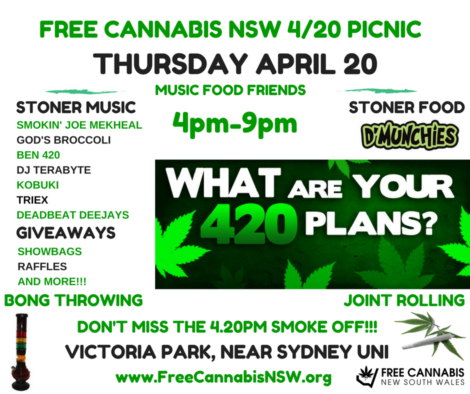 Free Cannabis picnic to celebrate 4/20 in Sydney in style