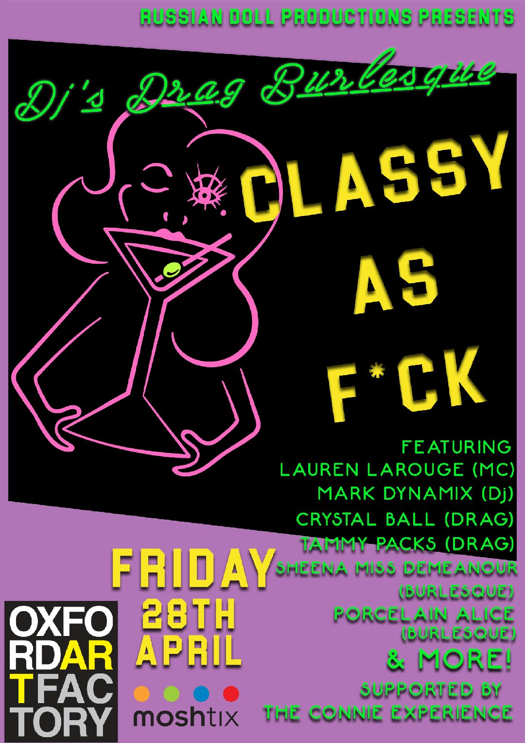 "Get ""Classy as F*ck!"" at Oxford Art Factory on April 28"