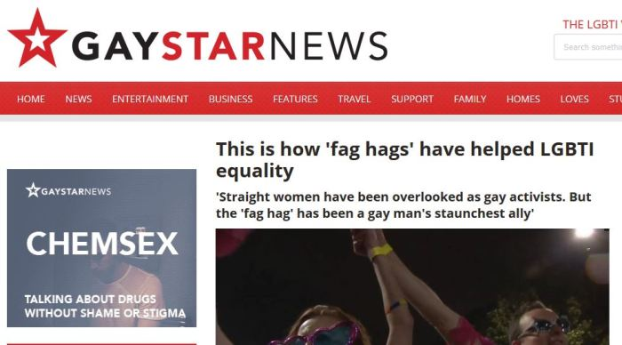 Gay Star News about Handbag